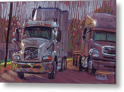 Two Trucks Metal Print by Donald Maier