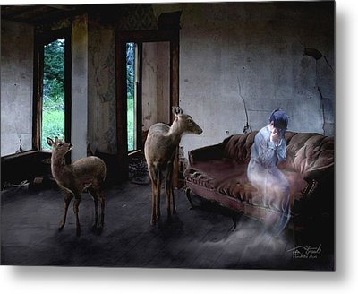 Unexpected Company Metal Print by Tom Straub