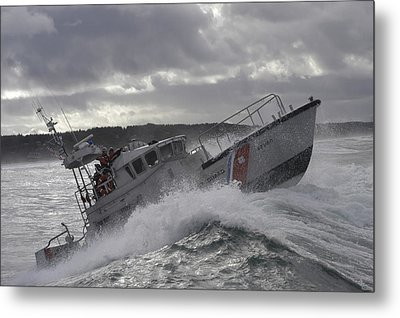 U.s. Coast Guard Motor Life Boat Brakes Metal Print by Stocktrek Images