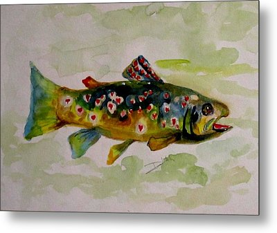 Valentine Trout Metal Print by Delilah  Smith
