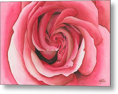 Vertigo Rose Metal Print by Ken Powers