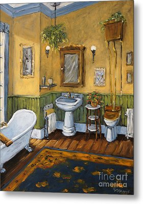 Victorian Bathroom By Prankearts Metal Print by Richard T Pranke