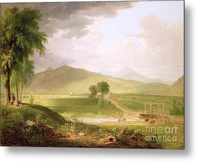 View Of Rutland - Vermont Metal Print by Asher Brown Durand