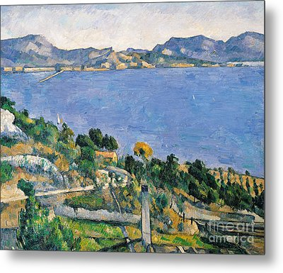 View Of The Bay Of Marseilles Metal Print by Paul Cezanne
