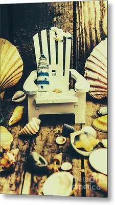 Vintage Cruise Deck Details Metal Print by Jorgo Photography - Wall Art Gallery