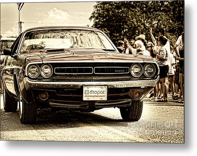 Vintage Dodge Charger Metal Print by Andre Babiak