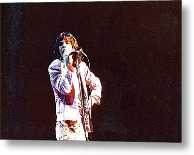 Vintage Mick 1975 Metal Print by Claire McGee