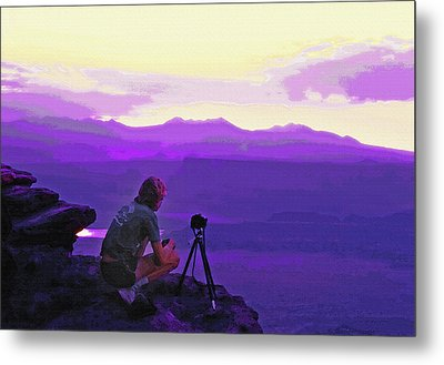 Waiting For The Sunrise - Dead Horse Point Utah Metal Print by Steve Ohlsen