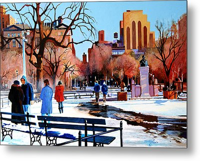 Washington Square Metal Print by John Tartaglione