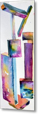 Watercolor Sculpture Metal Print by Mindy Newman