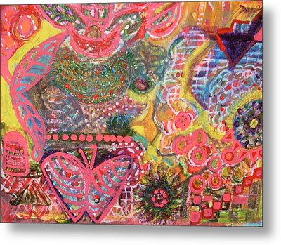 We Are The Colors Of The World  Aka Medley Of Colors Metal Print by Anne-Elizabeth Whiteway