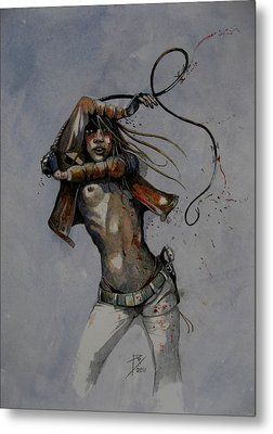Whip Metal Print by Ray Agius
