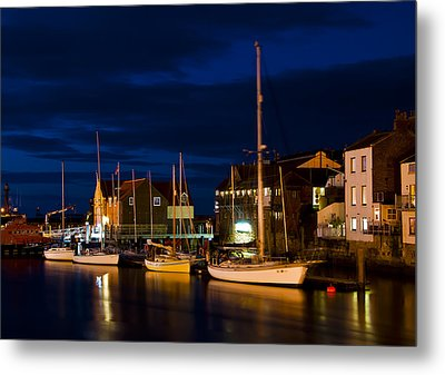 Whitby Harbour Metal Print by Svetlana Sewell
