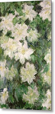 White Clematis Metal Print by Claude Monet
