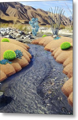 Whitewater Metal Print by Snake Jagger