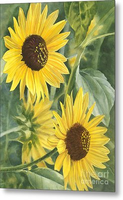 Wild Sunflowers Metal Print by Sharon Freeman
