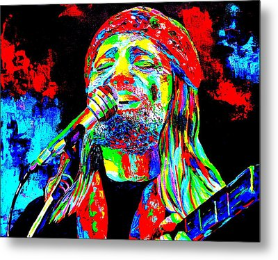 Willie Nelson Metal Print by Mike OBrien