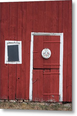 Window And Door Metal Print by Robert Sander