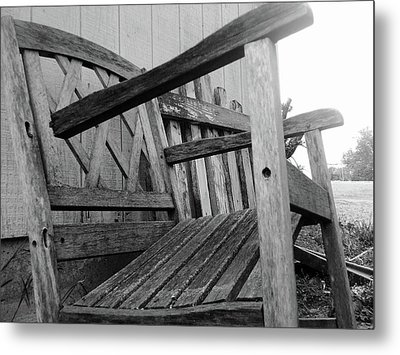 Wooden Chair Metal Print by Ali Dover