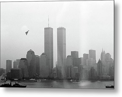 World Trade Center And Opsail 2000 July 4th Photo 18 B2 Stealth Bomber Metal Print by Sean Gautreaux
