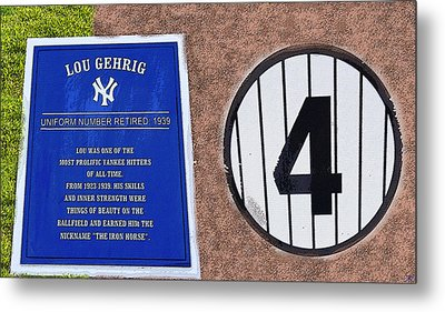 Yankee Legends Number 4 Metal Print by David Lee Thompson
