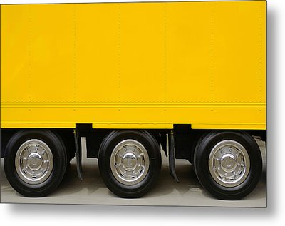 Yellow Truck Metal Print by Carlos Caetano