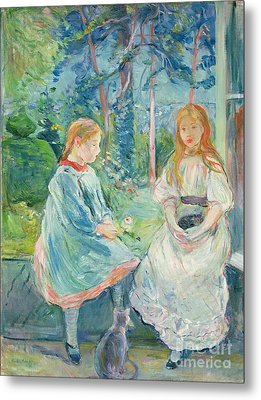 Young Girls At The Window Metal Print by Berthe Morisot