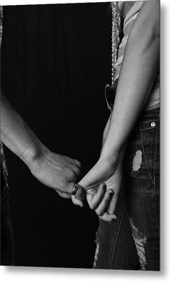 Young Love - Pinky Touch Metal Print by Scott Sawyer