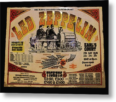 Zeppelin Express Metal Print by David Lee Thompson