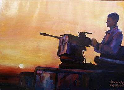 American Solder In Iraq Poster by Khatuna Buzzell