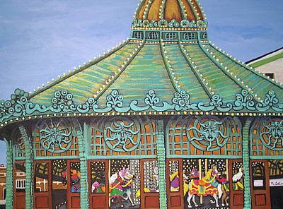 Asbury Park Carousel House II Poster by Norma Tolliver