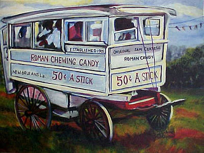 Candy Cart Poster by Darlene Collins