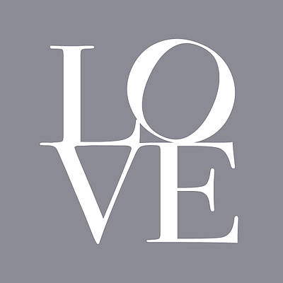 Love In Grey Poster by Michael Tompsett