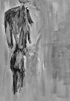 Male Nude 3 Poster by Julie Lueders
