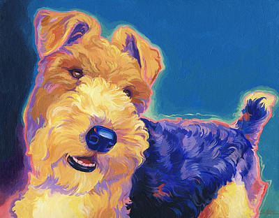Pop Wire Hair Fox Terrier Poster by Shawn Shea