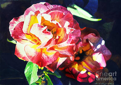 Roses Poster by David Lloyd Glover