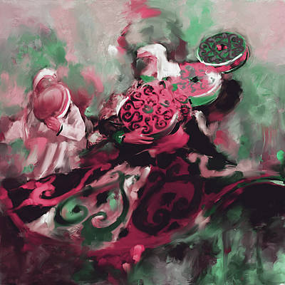 Sufi Whirling 450 Iv Poster by Mawra Tahreem