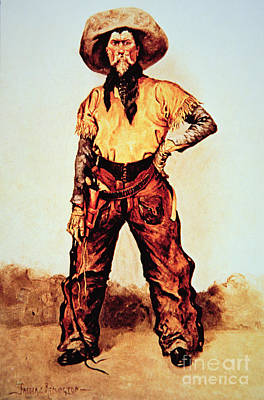 Texas Cowboy Poster by Frederic Remington