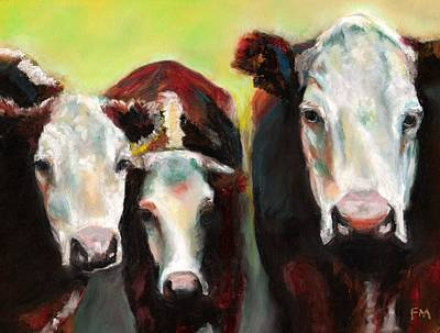 Three Generations Of Moo Poster by Frances Marino
