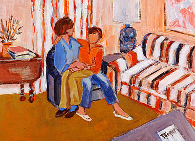 May I Sit On Your Lap Print by Elzbieta Zemaitis