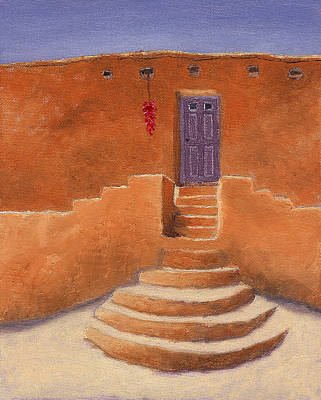 Ristra Painting - Acoma Steps by Jerry McElroy