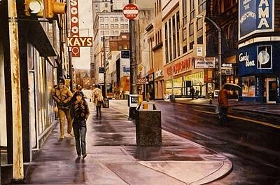 Fifth Avenue In The 80s Print by James Guentner