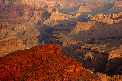 Grand Canyon At Sunrise Print by Stephen  Vecchiotti