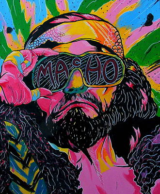 Wwf Painting - Macho Man by Brian Typhair