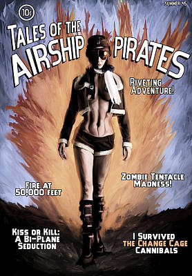 Tales Of The Airship Pirates Print by Mandem
