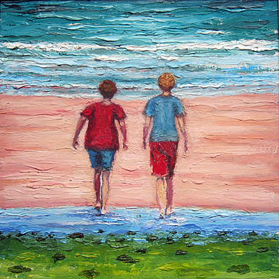 Beach Painting - I Sell Prints by Susan Stewart