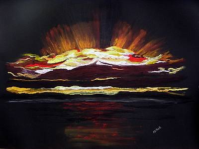 Almost Sunrise Print by Diane Frick