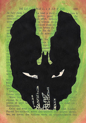Comic Books Painting - Bane Silhouette by Jera Sky