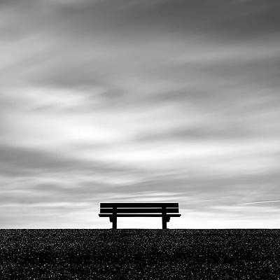 Solitude Photograph - Bench, Long Exposure by Kees Smans