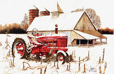 Cornfield Mixed Media - Big Red by Larry Johnson
